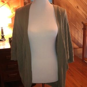 Mid-Length Sleeve Olive Sweater